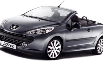 Peugeot 207cc (or similar)