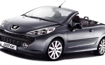 Peugeot 207cc (or similar)