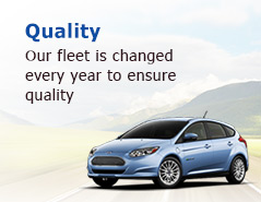 Our fleet is changed  every year to ensure  quality